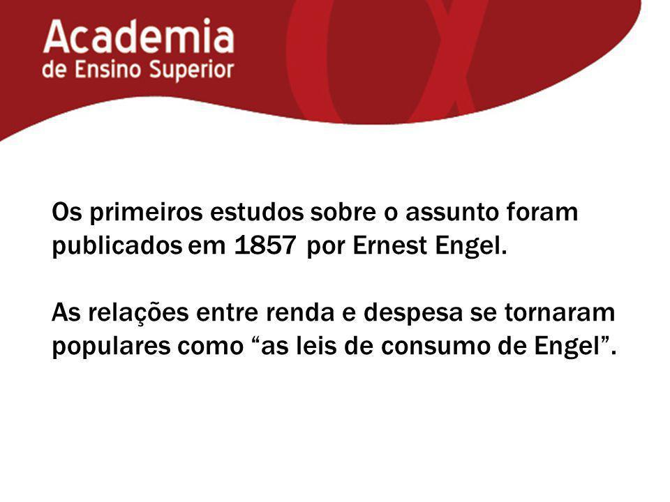 """Os primeiros estudos sobre o assunto foram publicados em 1857 por Ernest Engel. As relações entre renda e despesa se tornaram populares como """"as leis"""