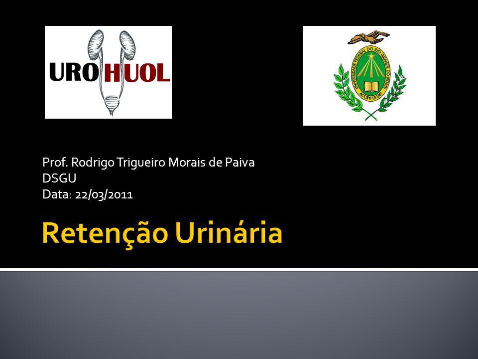 Prof. Rodrigo Trigueiro Morais de Paiva DSGU Data: 22/03/2011