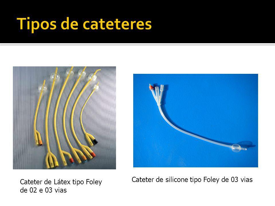 Cateter de Látex tipo Foley de 02 e 03 vias Cateter de silicone tipo Foley de 03 vias