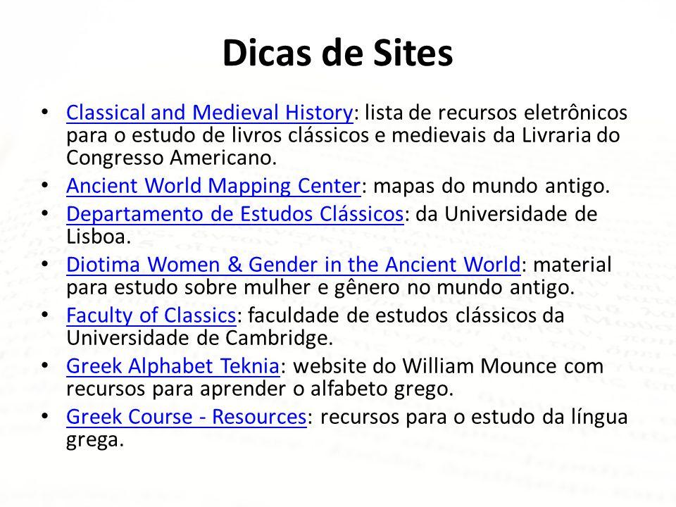 Dicas de Sites • Classical and Medieval History: lista de recursos eletrônicos para o estudo de livros clássicos e medievais da Livraria do Congresso