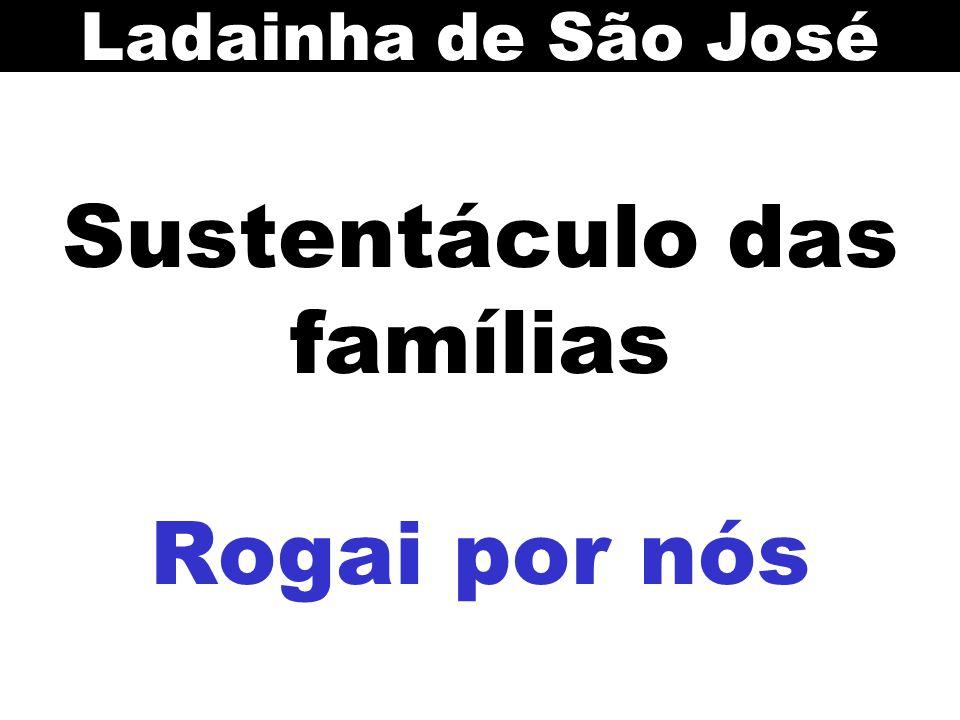 Sustentáculo das famílias Rogai por nós Ladainha de São José