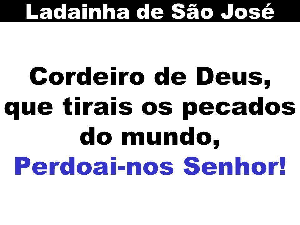 Cordeiro de Deus, que tirais os pecados do mundo, Perdoai-nos Senhor! Ladainha de São José