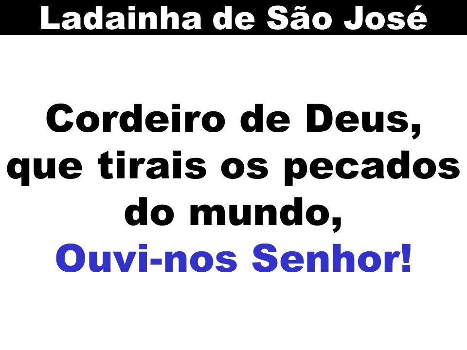 Cordeiro de Deus, que tirais os pecados do mundo, Ouvi-nos Senhor! Ladainha de São José