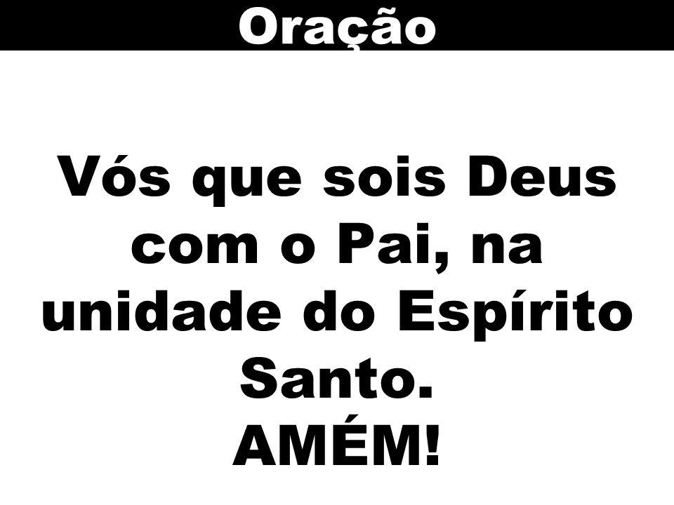 Vós que sois Deus com o Pai, na unidade do Espírito Santo. AMÉM! Oração