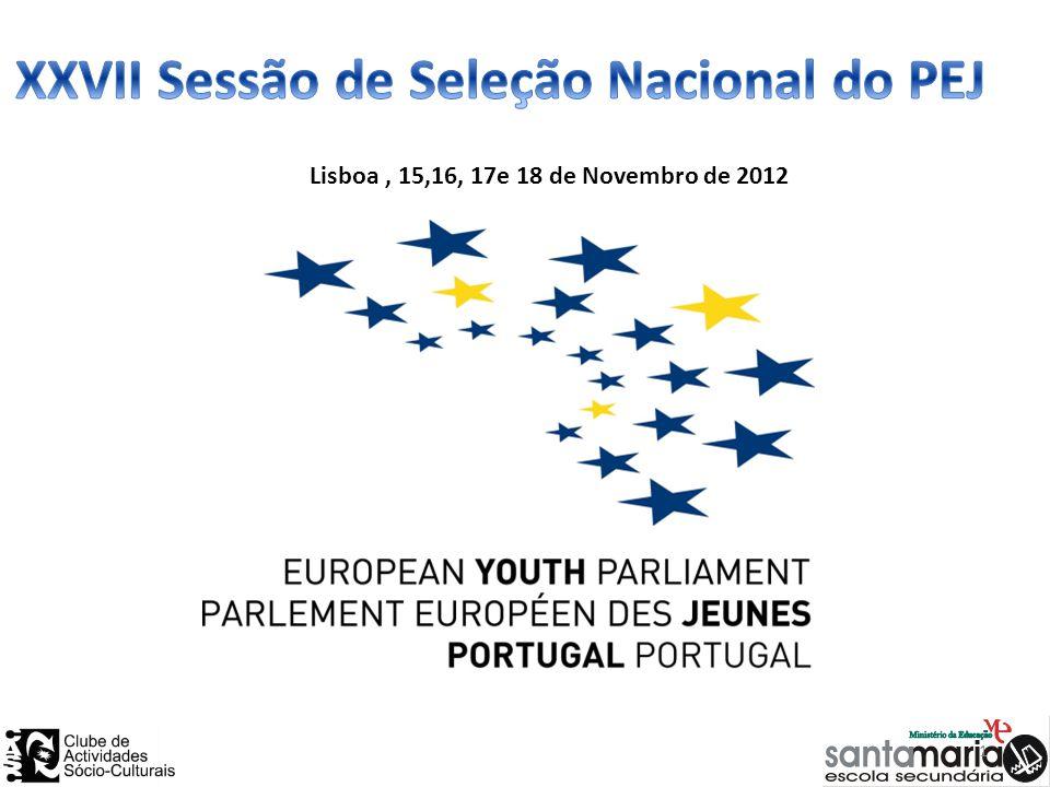 Lisboa, 15,16, 17e 18 de Novembro de 2012 1