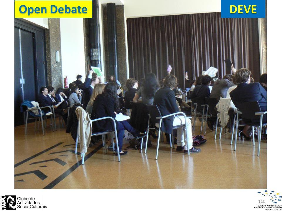 110DEVE Open Debate