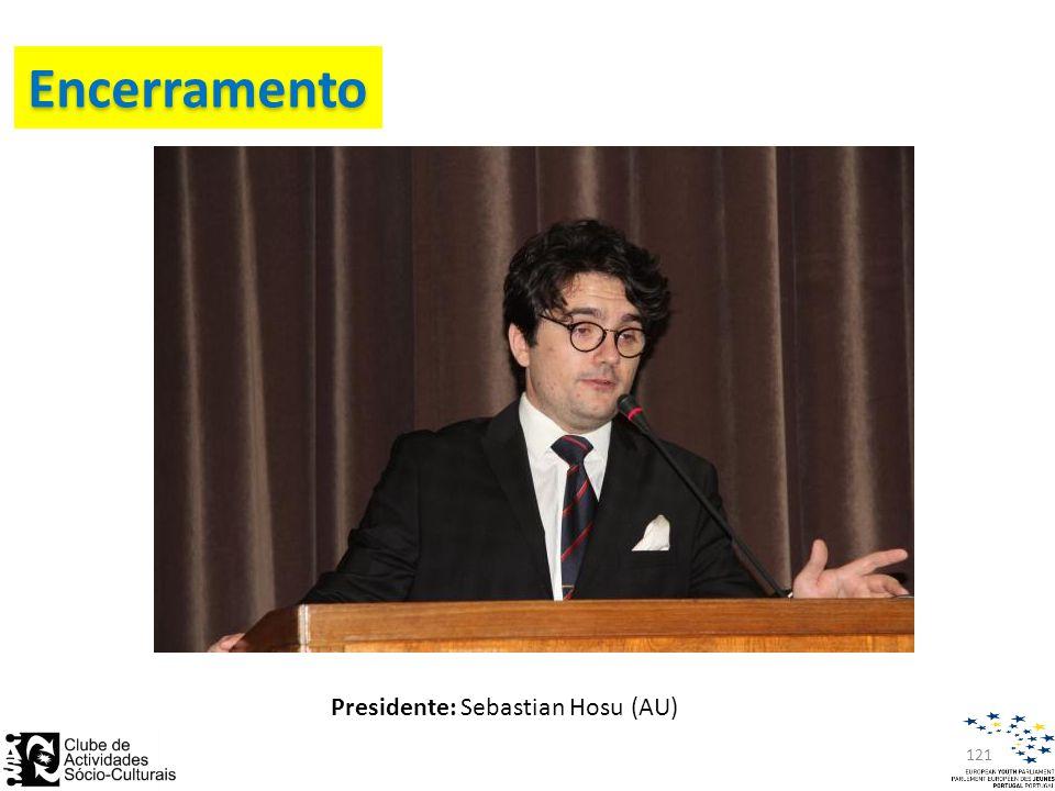 Presidente: Sebastian Hosu (AU) Encerramento 121