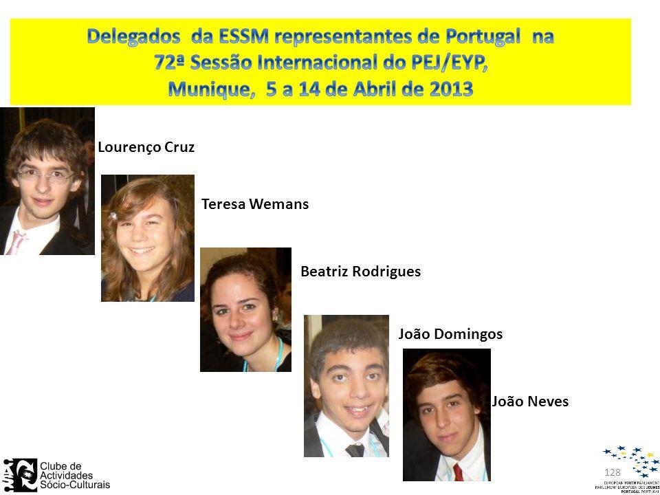 128 João Neves Lourenço Cruz Teresa Wemans Beatriz Rodrigues João Domingos