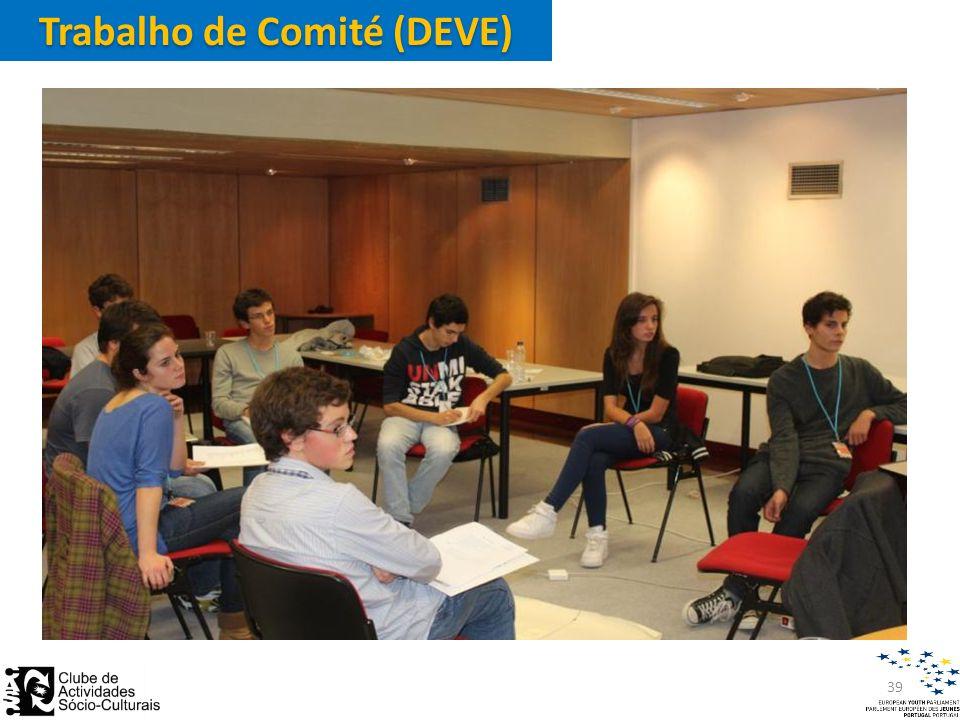Trabalho de Comité (DEVE) 39