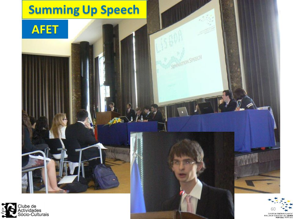 Summing Up Speech AFET 60