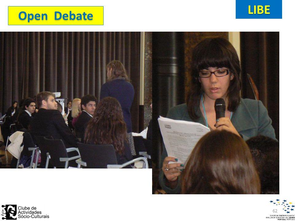 Open Debate LIBE 62