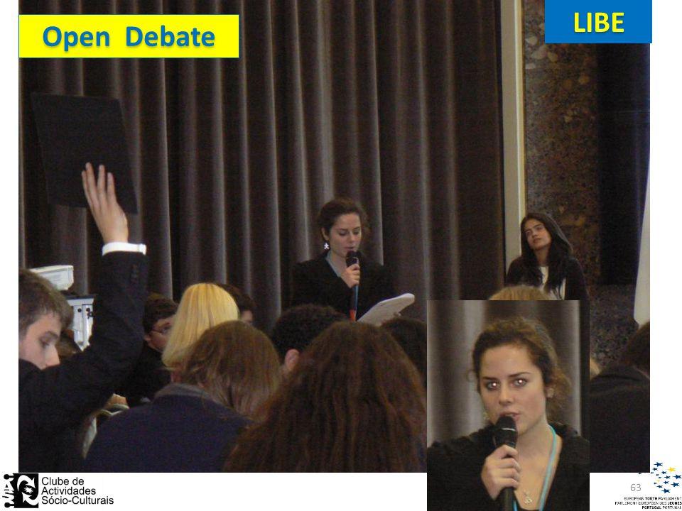 Open Debate LIBE 63