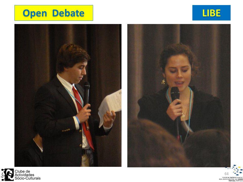 Open Debate LIBE 64