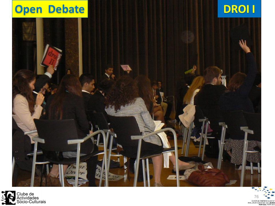 Open Debate DROI I 76