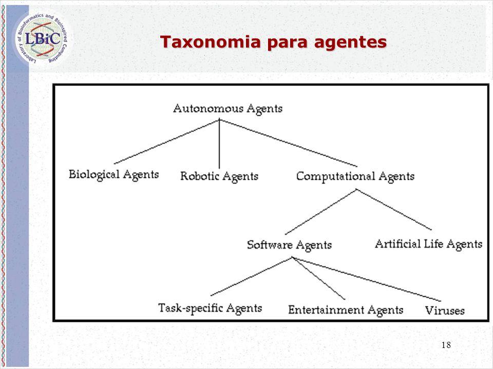 18 Taxonomia para agentes
