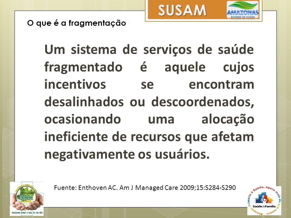 Um sistema de serviços de saúde fragmentado é aquele cujos incentivos se encontram desalinhados ou descoordenados, ocasionando uma alocação ineficient