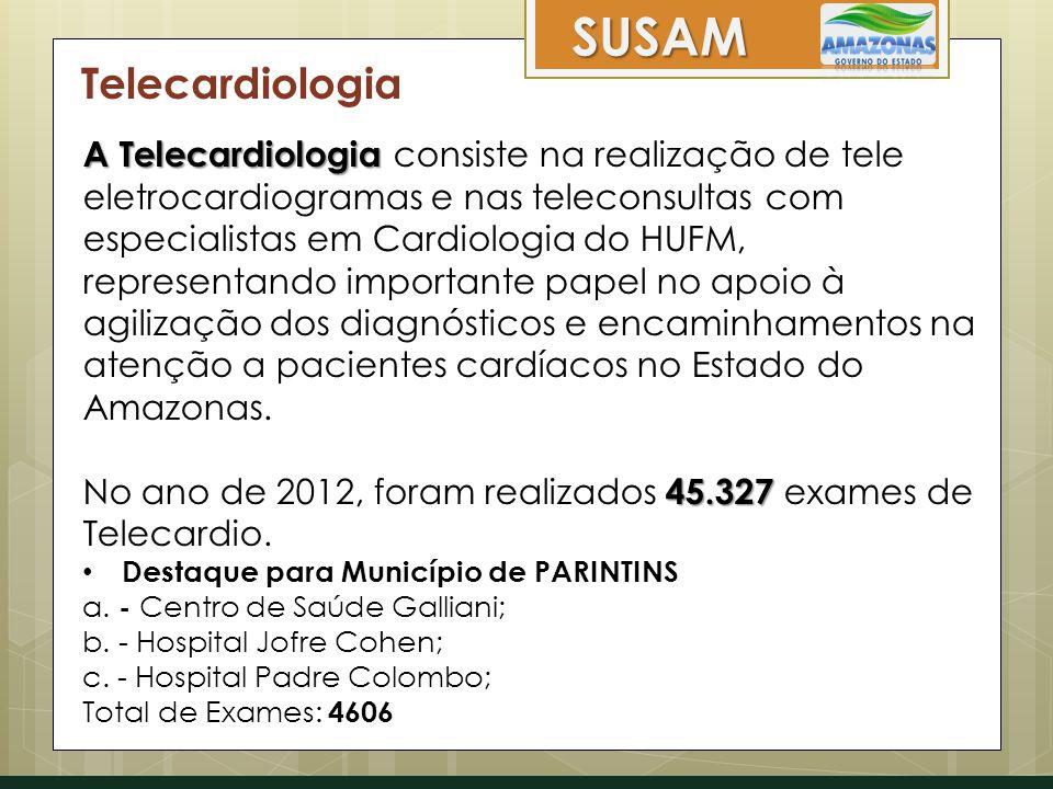 Telecardiologia A Telecardiologia A Telecardiologia consiste na realização de tele eletrocardiogramas e nas teleconsultas com especialistas em Cardiol