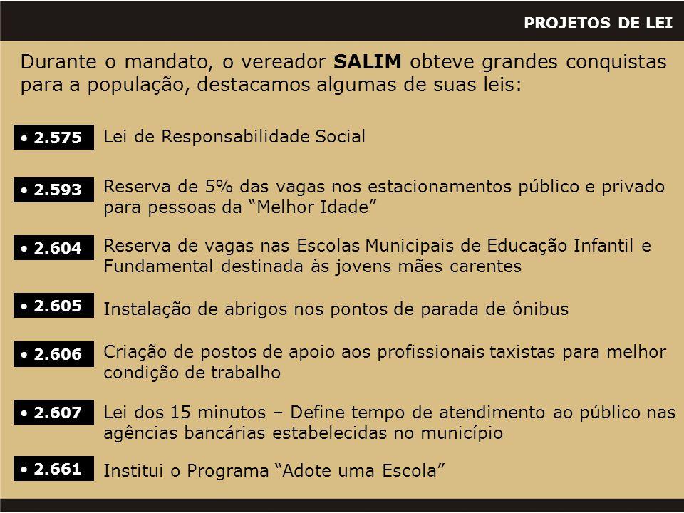 PROJETOS DE LEI  3073 Dispõe sobre a instituição do programa do alvará social.