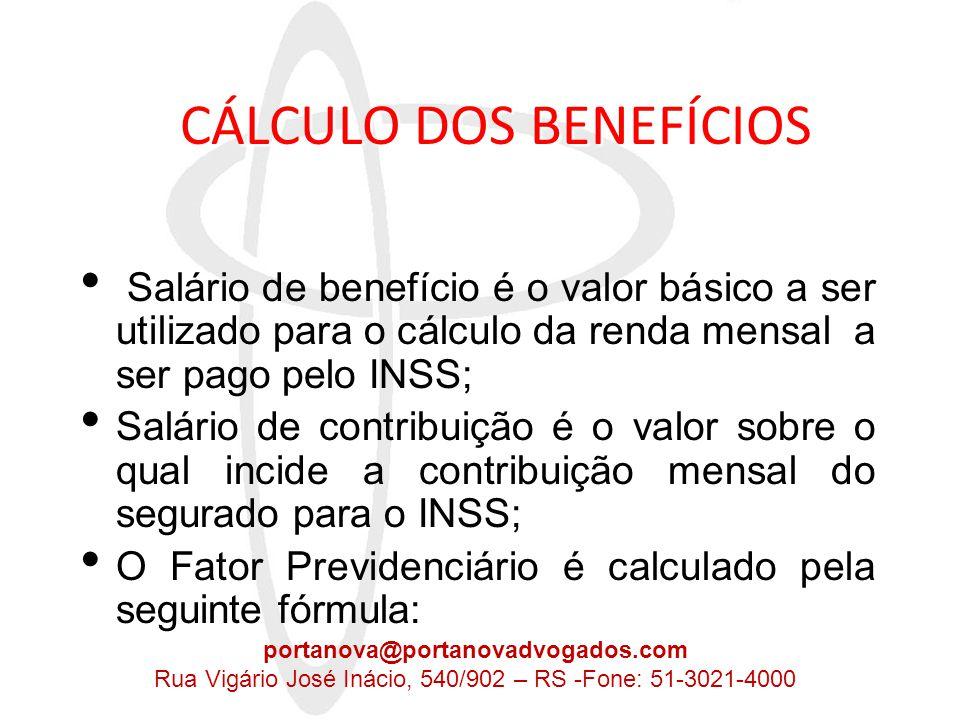 FATOR PREVIDENCIÁRIO f = fator previdenciário Tc = tempo de contribuição Id = idade Es=expectativa de sobrevida a = 0,31 Introdução de critérios atuariais.