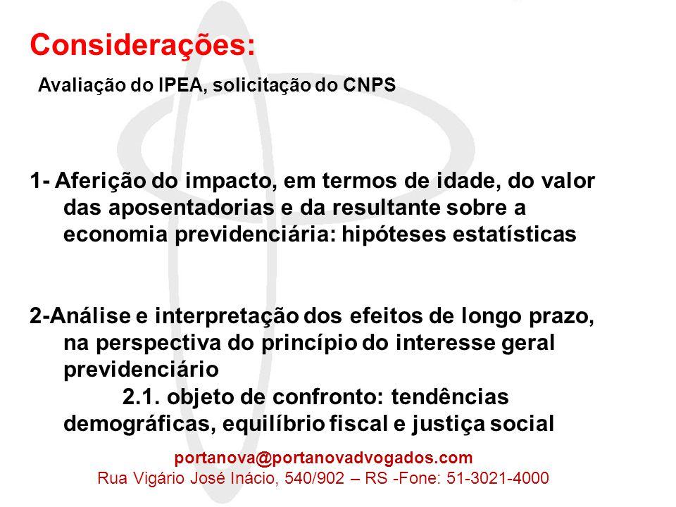 2- Análise e interpretação dos efeitos de longo prazo, na perspectiva do princípio do interesse geral previdenciário 2.1.