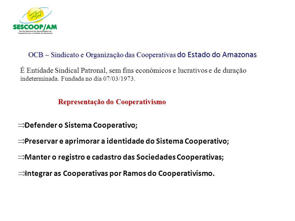 OCB – Sindicato e Organização das Cooperativas do Estado do Amazonas É Entidade Sindical Patronal, sem fins econômicos e lucrativos e de duração indet