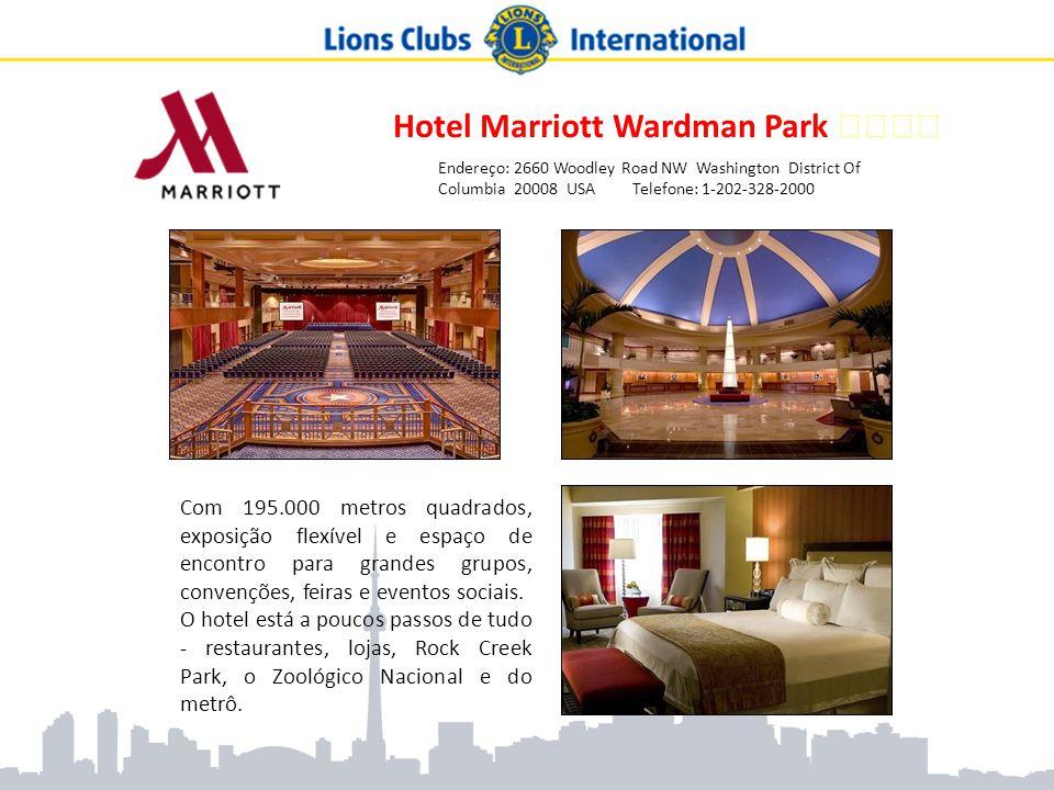 Hotel Marriott Wardman Park ★★★★ Endereço: 2660 Woodley Road NW Washington District Of Columbia 20008 USA Telefone: 1-202-328-2000 Com 195.000 metros