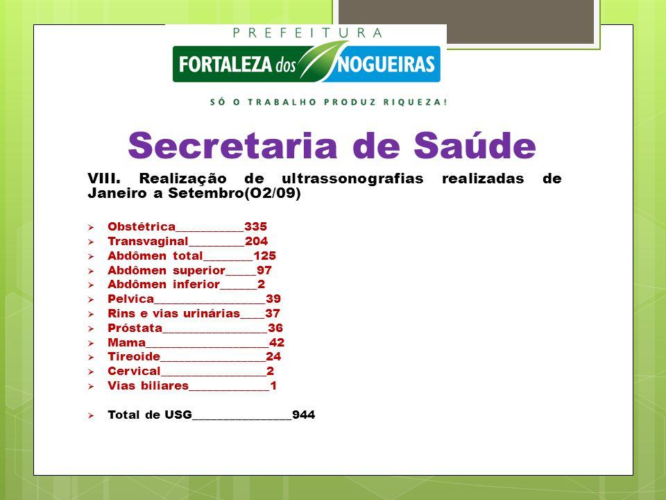 Secretaria de Saúde VIII.