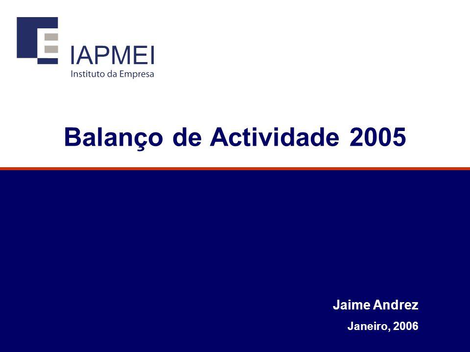 Balanço de Actividade 2005 Jaime Andrez Janeiro, 2006
