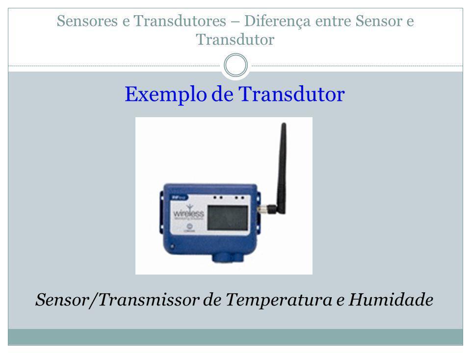 Sensores e Transdutores – Diferença entre Sensor e Transdutor Exemplo de Transdutor Sensor/Transmissor de Temperatura e Humidade
