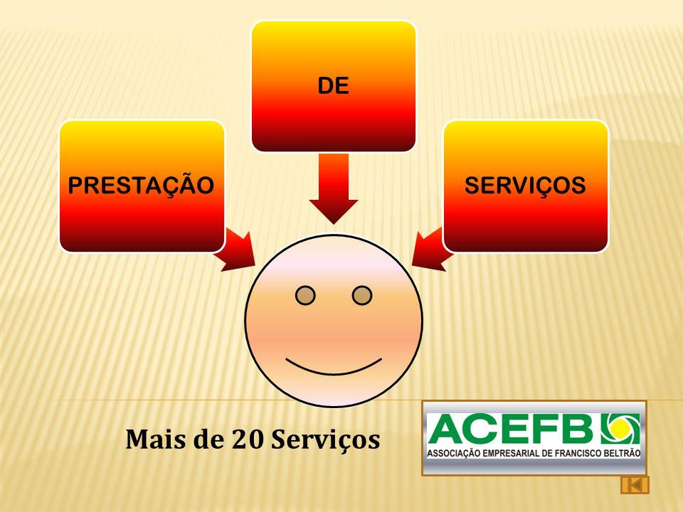 PRESTAÇÃODESERVIÇOS Mais de 20 Serviços