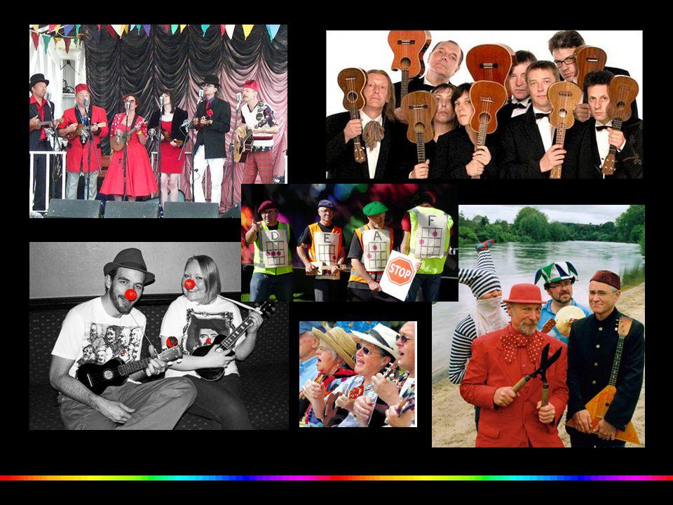 Também por ser um instrumento divertido, tem dado origem a imensas bandas humorísticas e alegres por todo o mundo