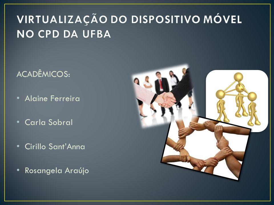 ACADÊMICOS: • Alaine Ferreira • Carla Sobral • Cirillo Sant'Anna • Rosangela Araújo
