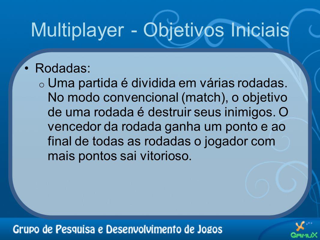 Multiplayer - Objetivos Iniciais •Rodadas: o Uma partida é dividida em várias rodadas. No modo convencional (match), o objetivo de uma rodada é destru