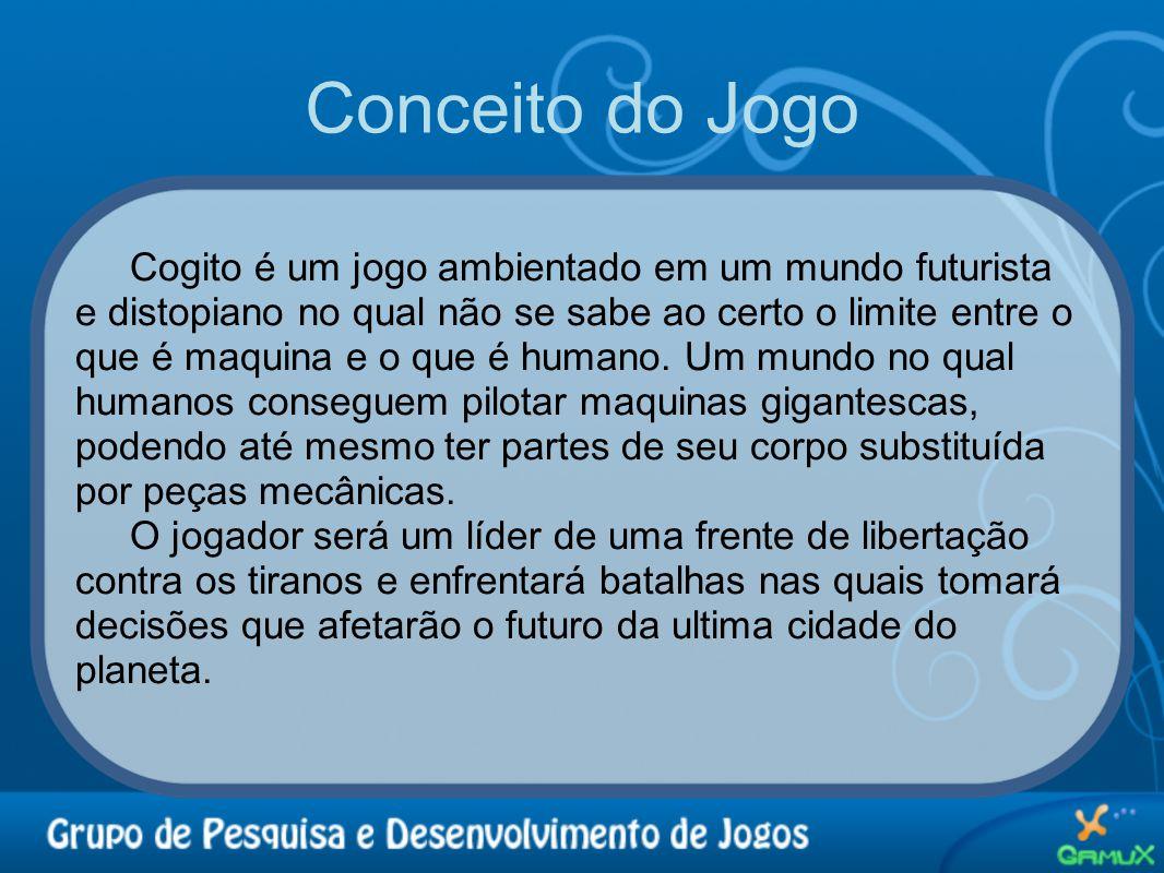 Conceito do Jogo Cogito é um jogo ambientado em um mundo futurista e distopiano no qual não se sabe ao certo o limite entre o que é maquina e o que é