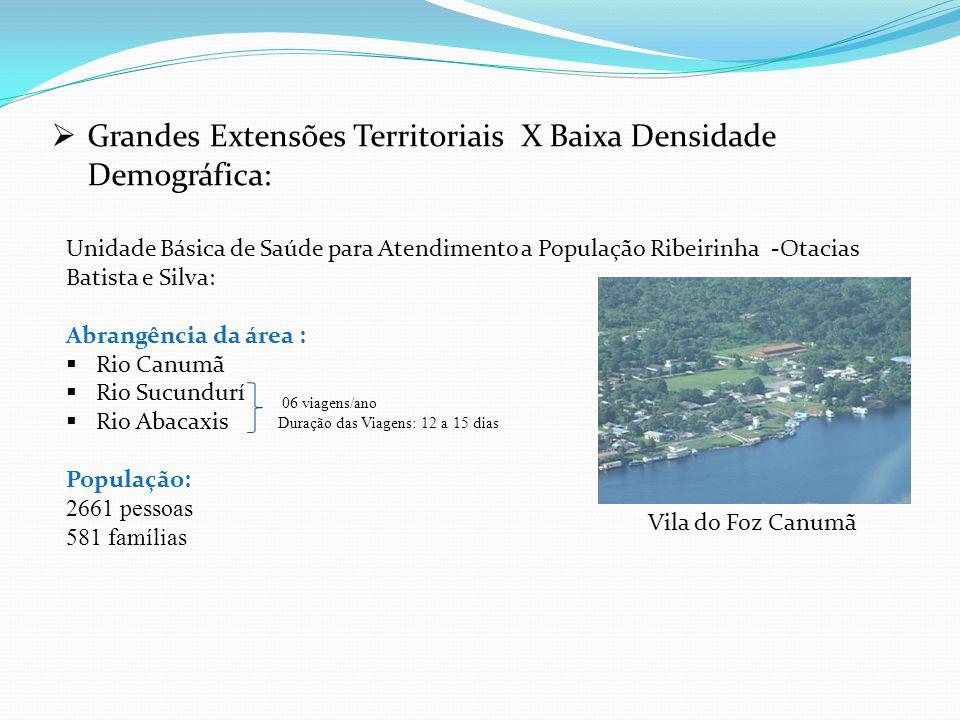  Grandes Extensões Territoriais X Baixa Densidade Demográfica: Unidade Básica de Saúde para Atendimento a População Ribeirinha -Otacias Batista e Sil