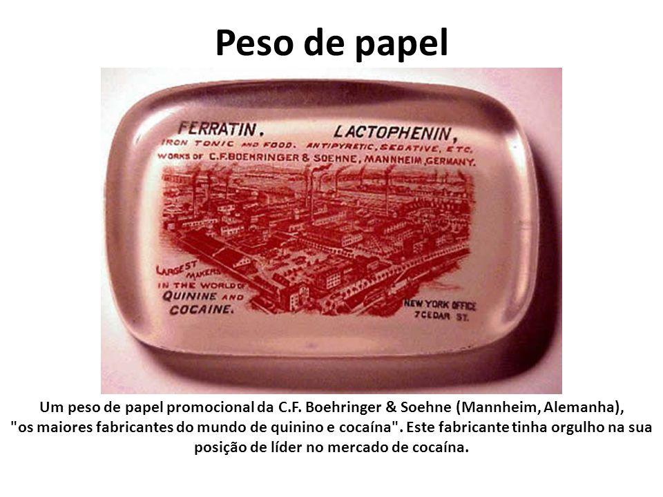 Peso de papel Um peso de papel promocional da C.F. Boehringer & Soehne (Mannheim, Alemanha),