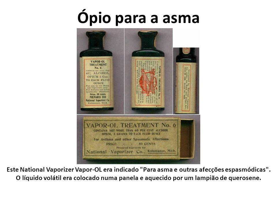 Ópio para a asma Este National Vaporizer Vapor-OL era indicado