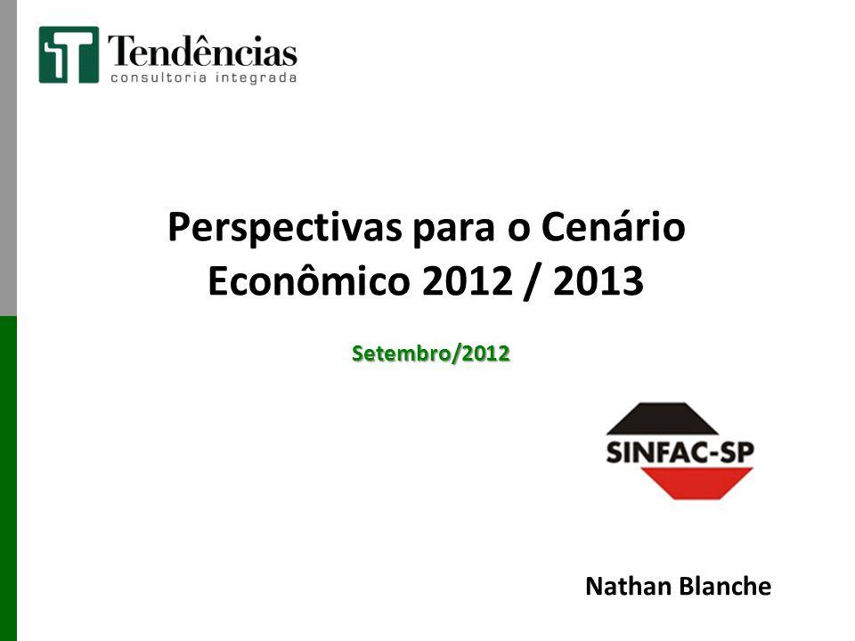 Perspectivas para o Cenário Econômico 2012 / 2013 Setembro/2012 Nathan Blanche