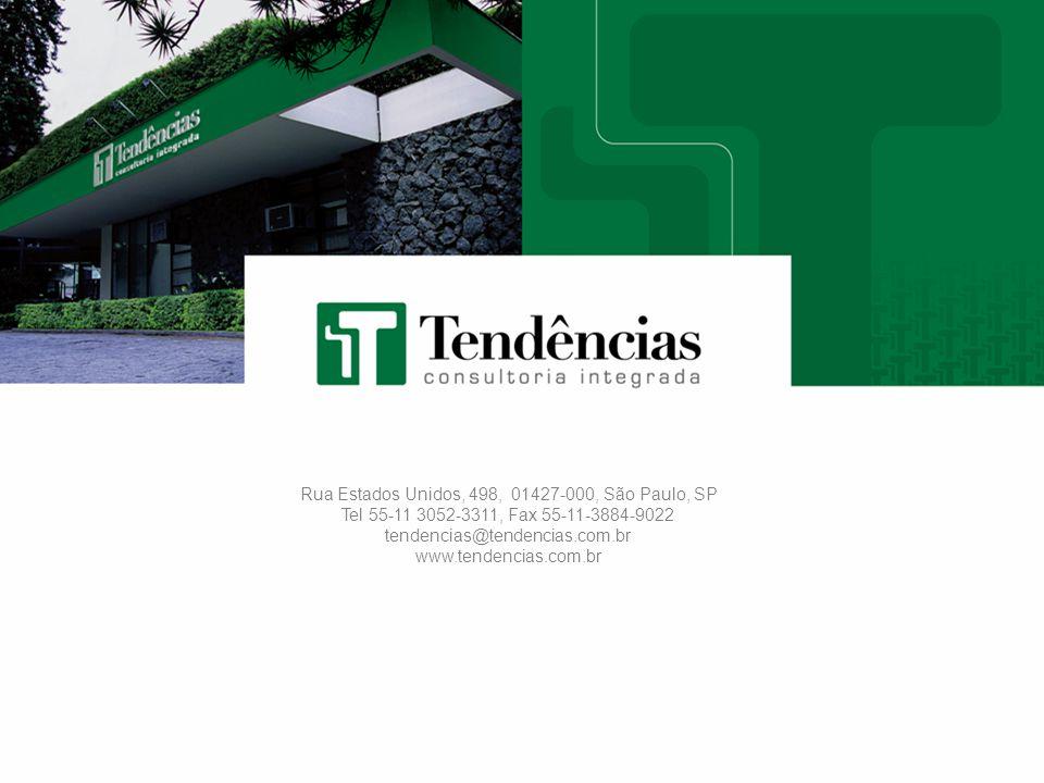 45 Rua Estados Unidos, 498, 01427-000, São Paulo, SP Tel 55-11 3052-3311, Fax 55-11-3884-9022 tendencias@tendencias.com.br www.tendencias.com.br