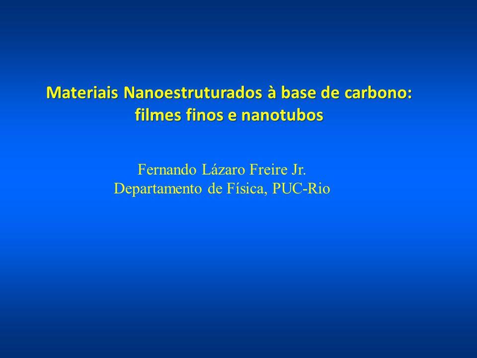 Materiais Nanoestruturados à base de carbono: filmes finos e nanotubos Fernando Lázaro Freire Jr. Departamento de Física, PUC-Rio