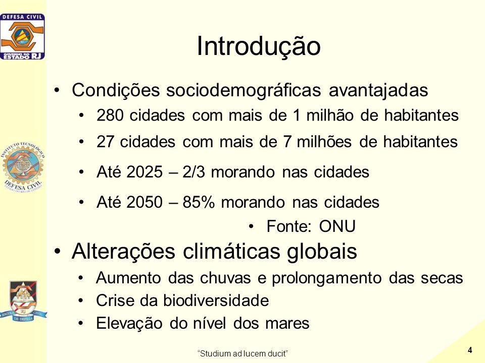•Inicia-se 1942 Studium ad lucem ducit 5 •Termina em 1946 Introdução •Chuvas de 1966 e 1967 •1969 – Organizado o Sistema de Defesa Civil na Guanabara
