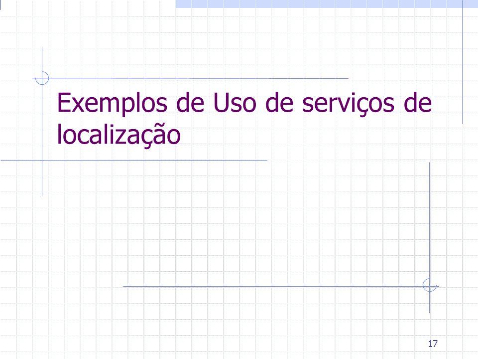 17 Exemplos de Uso de serviços de localização