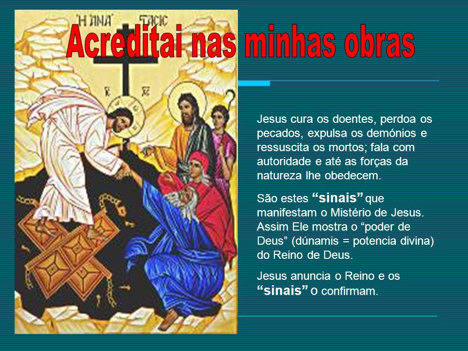 Jesus cura os doentes, perdoa os pecados, expulsa os demónios e ressuscita os mortos; fala com autoridade e até as forças da natureza lhe obedecem. Sã