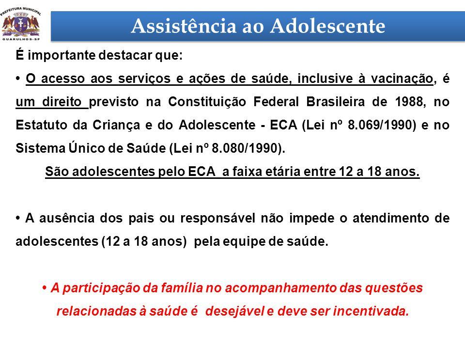 É importante destacar que: • O acesso aos serviços e ações de saúde, inclusive à vacinação, é um direito previsto na Constituição Federal Brasileira d