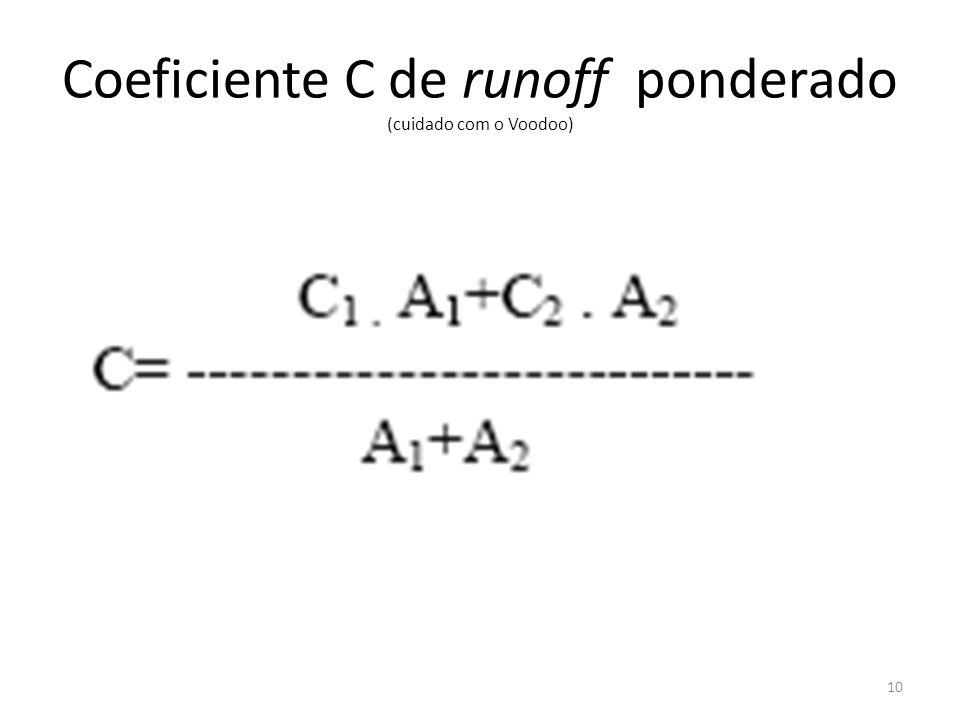 Coeficiente C de runoff ponderado (cuidado com o Voodoo) 10