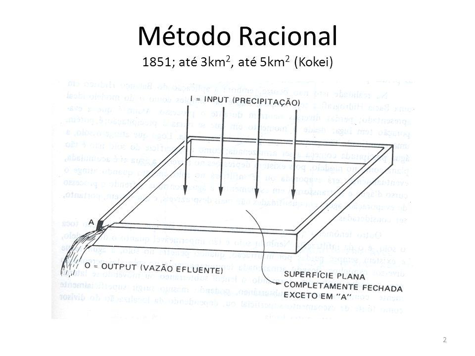 Método Racional 1851; até 3km 2, até 5km 2 (Kokei) 2