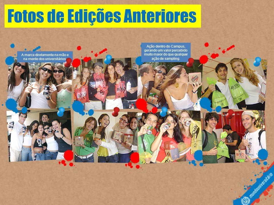 Fotos de Edições Anteriores A marca diretamente na mão e na mente dos universitários.