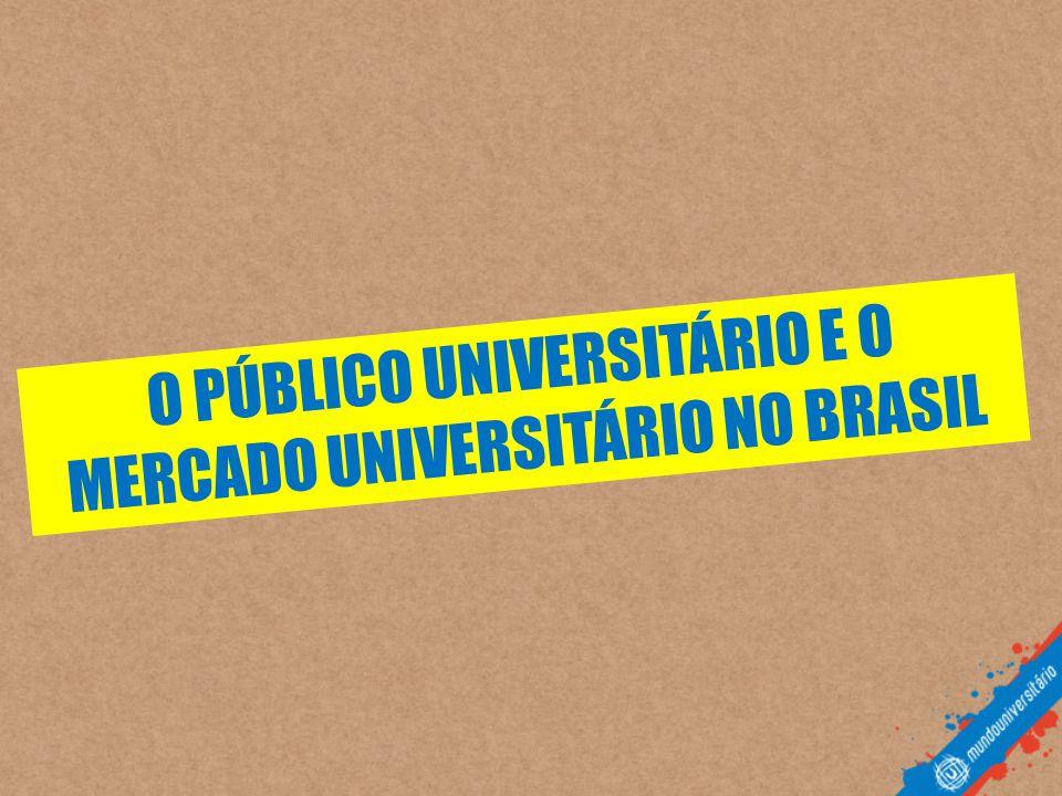 O PÚBLICO UNIVERSITÁRIO E O MERCADO UNIVERSITÁRIO NO BRASIL