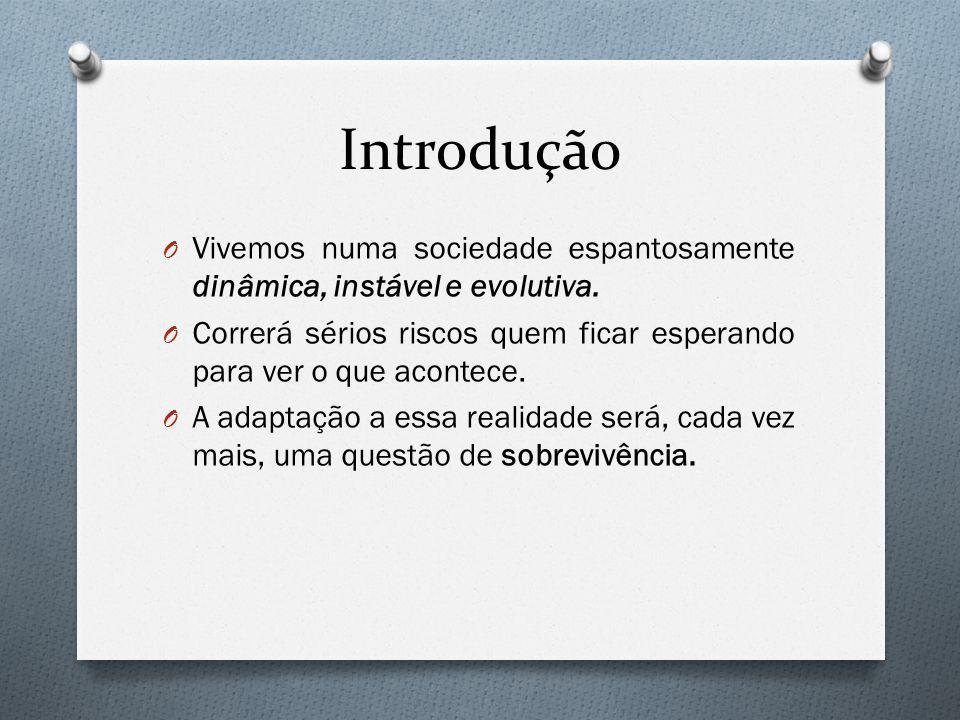 Introdução O Vivemos numa sociedade espantosamente dinâmica, instável e evolutiva.