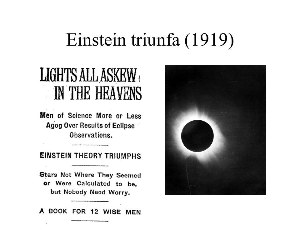 Einstein triunfa (1919)